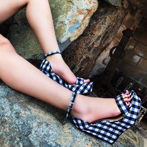 Open Toe Platform High Heel Sandals Wedge